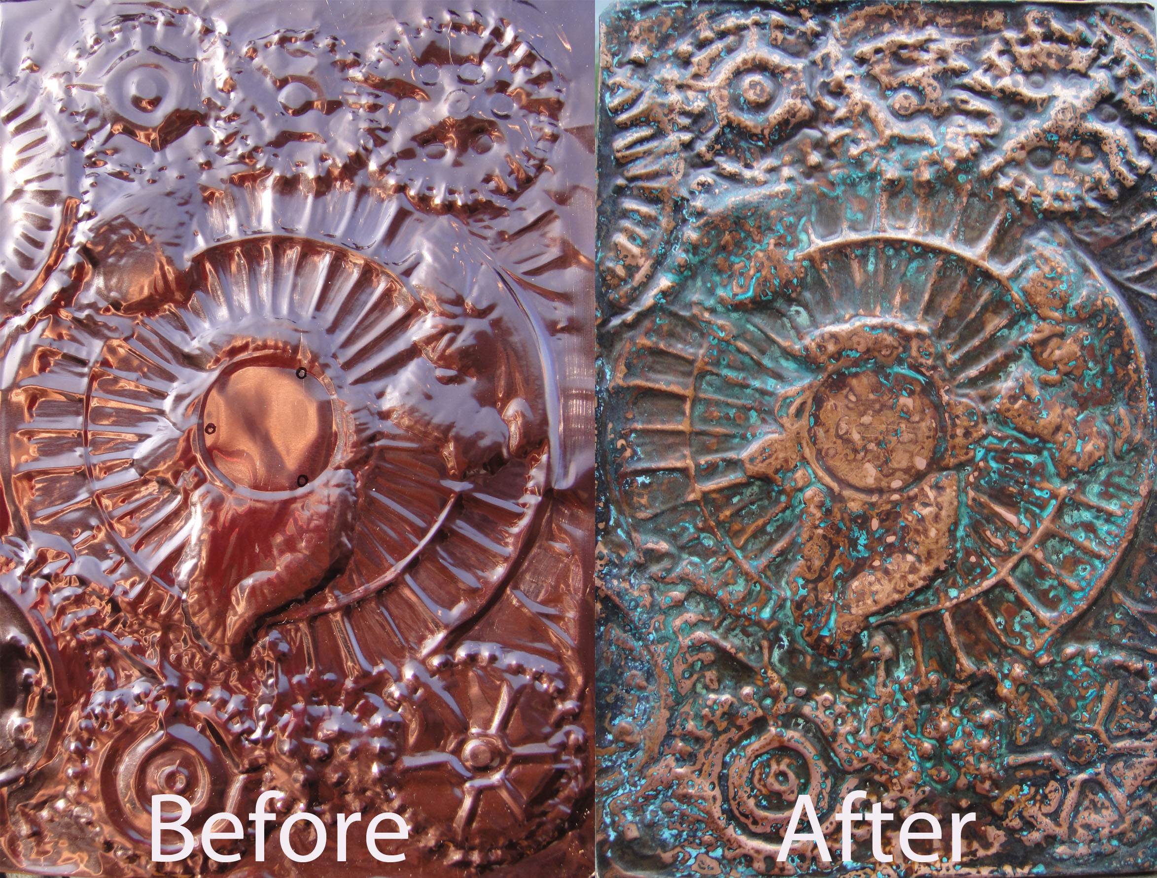how to age copper using only household cleaners art instinctart instinct. Black Bedroom Furniture Sets. Home Design Ideas